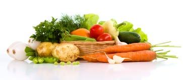 Trädgårds- grönsak som isoleras över vit royaltyfria bilder