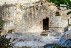 Trädgårds- gravvalv, Jerusalem Arkivfoto