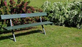 trädgårds- green för bänk Arkivbilder