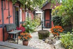 Trädgårds- Gudhjem Danmark fotografering för bildbyråer