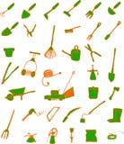 trädgårds- hjälpmedel Arkivbild