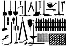 trädgårds- hjälpmedel stock illustrationer