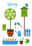 trädgårds- hjälpmedel Arkivfoton