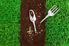 trädgårds- hjälpmedel för jord Royaltyfri Foto