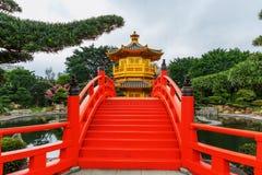 trädgårds- Hong Kong lian nan paviljong Fotografering för Bildbyråer