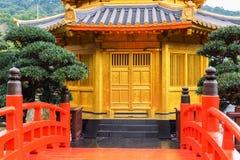 trädgårds- Hong Kong lian nan paviljong Arkivbild