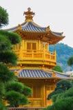 trädgårds- Hong Kong lian nan paviljong Royaltyfri Foto