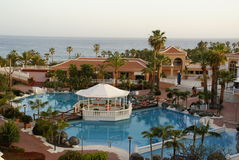 trädgårds- hotellkunglig person tenerife Royaltyfria Bilder