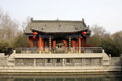 trädgårds- huspaviljong för kines Royaltyfria Bilder