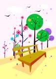 trädgårds- illustration vektor illustrationer