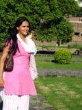 trädgårds- indisk kvinna Arkivfoton