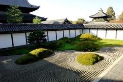 trädgårds- japan zen Arkivbild