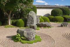 trädgårds- japansk rock Fotografering för Bildbyråer