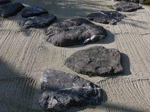 trädgårds- japansk sten Arkivfoto