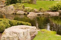 trädgårds- japansk ström Royaltyfri Fotografi