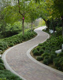 trädgårds- japansk walkway Royaltyfria Foton