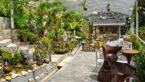 Trädgårds- kafé Royaltyfri Foto