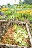 Trädgårds- kompostfack Royaltyfri Bild