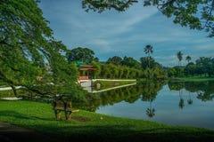 trädgårds- lake taiping Arkivfoton