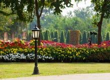 Trädgårds- lampa Arkivfoto