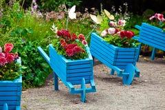 Trädgårds- landskap för designbeståndsdelar Royaltyfria Bilder