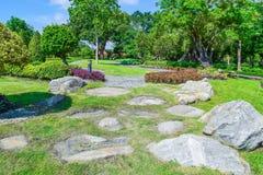 Trädgårds- landskapdesign Arkivbilder