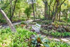 Trädgårds- landskapdesign Arkivfoto