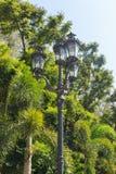 trädgårds- lighting arkivbilder