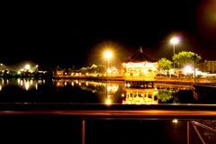 Trädgårds- ljus för kines på natten Fotografering för Bildbyråer