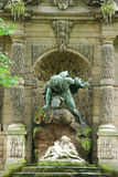 trädgårds- luxembourg för springbrunn medici Arkivfoton