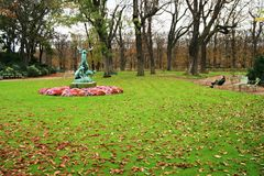 trädgårds- luxembourg paris Royaltyfri Fotografi