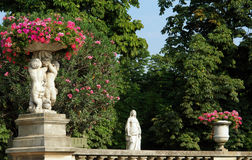 trädgårds- luxembourg paris arkivfoton