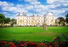 trädgårds- luxembourg paris royaltyfria foton