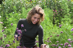 trädgårds- lycka arkivfoto