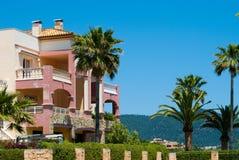 trädgårds- majorcaspain villa Royaltyfria Bilder
