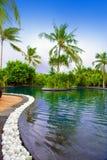 trädgårds- maldives pool tropiskt arkivbilder