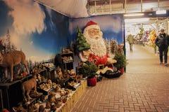 Trädgårds- mitt i jul Arkivfoto