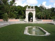 trädgårds- museum vizcaya Arkivbild