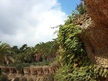 Trädgårds- near parkerar Guell Royaltyfria Foton