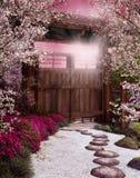 trädgårds- orientaliskt royaltyfri illustrationer