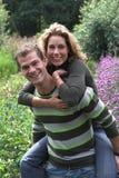 trädgårds- på ryggen royaltyfri fotografi