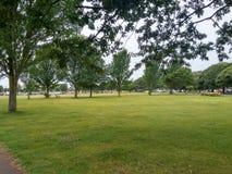 Trädgårds-/parkera Portsmouth den soliga dagen Förenade kungariket arkivfoton