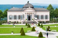 Trädgårds- paviljong av den Melk abbotskloster, Österrike Royaltyfri Foto