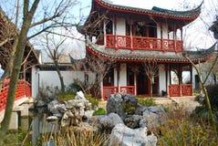 trädgårds- poetsuppehåll suzhou för porslin Arkivbild