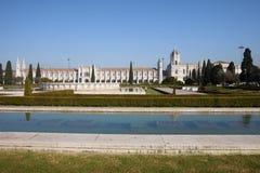 Trädgårds- Praca gör den Imperio och Jeronimos kloster i Lissabon Royaltyfri Bild