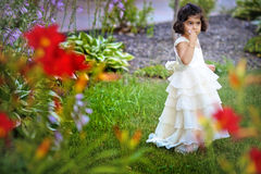 trädgårds- princess arkivbild