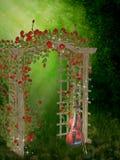 trädgårds- ro Arkivfoto