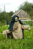 trädgårds- scarecrow Arkivfoto