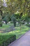 Trädgårds- sikt från Sanssouci i Potsdam, Tyskland Arkivfoto