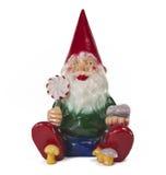 trädgårds- sitting för gnome 2 fotografering för bildbyråer